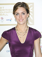 LONDON - NOVEMBER 30: Amy Williams attended the British Olympic Ball at the Grosvenor House Hotel, London, UK. November 30, 2012. (Photo by Richard Goldschmidt)