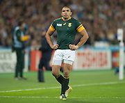 London, Great Britain,     Bryan HABANA,  looks up at the big screen, as his potenial record touch down, is accessed by the  TMO, to set a new World Cup record, verdict, No Try. South Africa vs Argentina. 2015 Rugby World Cup, Bronze Medal Match.Queen Elizabeth Olympic Park. Stadium, Stratford. East London. England,, Friday  30/10/2015. <br /> [Mandatory Credit; Peter Spurrier/Intersport-images]