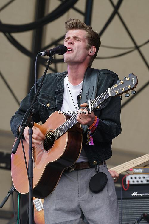 London, England, UK. 16th July 2017. Hudson Taylor performs at the Citadel Festival at Victoria Park, London, UK.