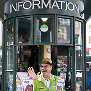 Visit Seattle Pike Place Market Information Booth Concierge James. Photo by Alabastro Photography.