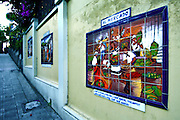 Costa Rica, San Jose, Barrio Amon Neighborhood, Ceramic Paintings Based On The Poems Of Folklore By Aquileo Echeverria
