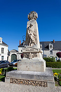 Homage to the deceased in the world war I, Le Lude, Sarthe, Pays de la Loire, France