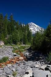 Kautz Creek with Mount Rainier in the background, Mt. Rainier National Park, Washington, United States of America