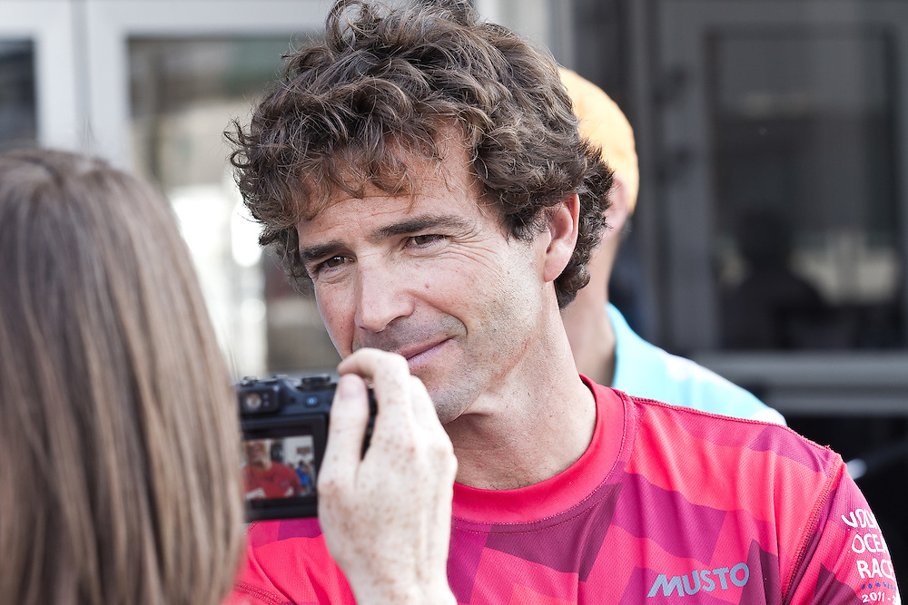 SPAIN, Alicante. 7th October 2011. Volvo Ocean Race. Roberto Bermudez De Castro, CAMPER with Emirates Team New Zealand.