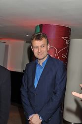 HUGH DENNIS at the 2011 Costa Book Awards held at Quaglino's, 16 Bury Street, London on 24th January 2012.