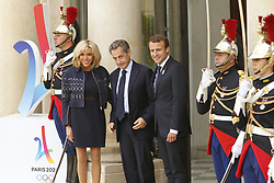 September 15, 2017 - Paris, France, France - Brigitte Macron - Nicolas Sarkozy - Emmanuel Macron (Credit Image: © Panoramic via ZUMA Press)