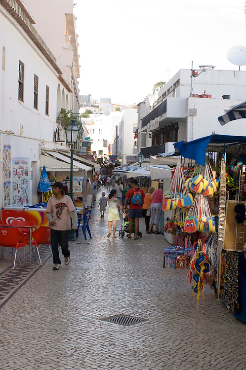 The tourist resort of Albufeira on the Algarve, Portugal