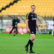 Ben Smith warming up before the super rugby union  game between Hurricanes  and Highlanders, played at Westpac Stadium, Wellington, New Zealand on 24 March 2018.  Hurricanes won 29-12.