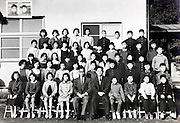 elementary school children group photo 1961 Japan