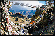 """Praying flags, or """"wind horses"""". """"Lung Ta"""" in tibetan."""