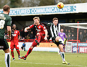 Crawley Town Forward Lee Barnard and Plymouth forward Craig Tanner in action during the Sky Bet League 2 match between Crawley Town and Plymouth Argyle at the Checkatrade.com Stadium, Crawley, England on 20 February 2016. Photo by David Charbit.