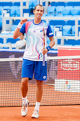 Frantisek Cermak and Lukas Rosol of Czech Republic during a tennis match against the Dusan Lajovic of Serbia and Franko Skugor of Croatia in final of doubles at 25th Vegeta Croatia Open Umag, on July 27, 2014, in Stella Maris, Umag, Croatia. Photo by Urban Urbanc / Sportida