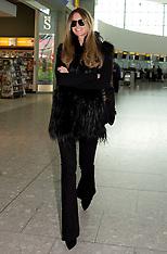 MAR 14 2014  Elle Macpherson departs Heathrow