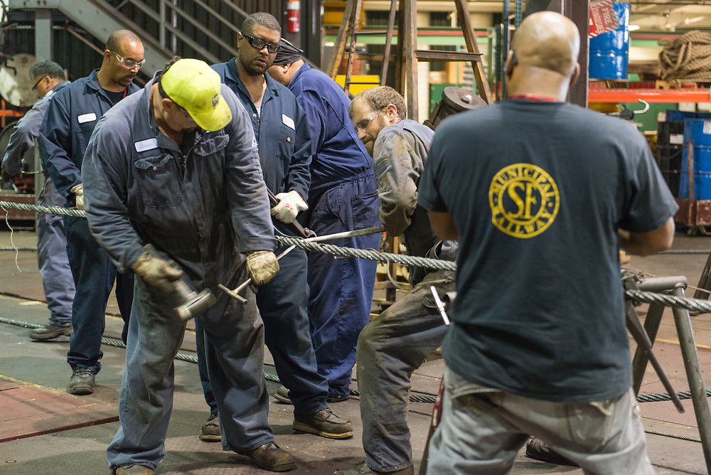 Cable Car Shop Mechanics Making a Temporary Splice | September 18, 2014