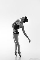 Black and white dance photography-Up En Pointe -featuring ballerina Zui Gomez