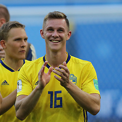 July 3, 2018 - Russia - July 03, 2018, St. Petersburg, FIFA World Cup 2018 Football, the playoff round. Football match of Sweden - Switzerland at the stadium of St. Petersburg. Player of the national team Emil Kraft. (Credit Image: © Russian Look via ZUMA Wire)