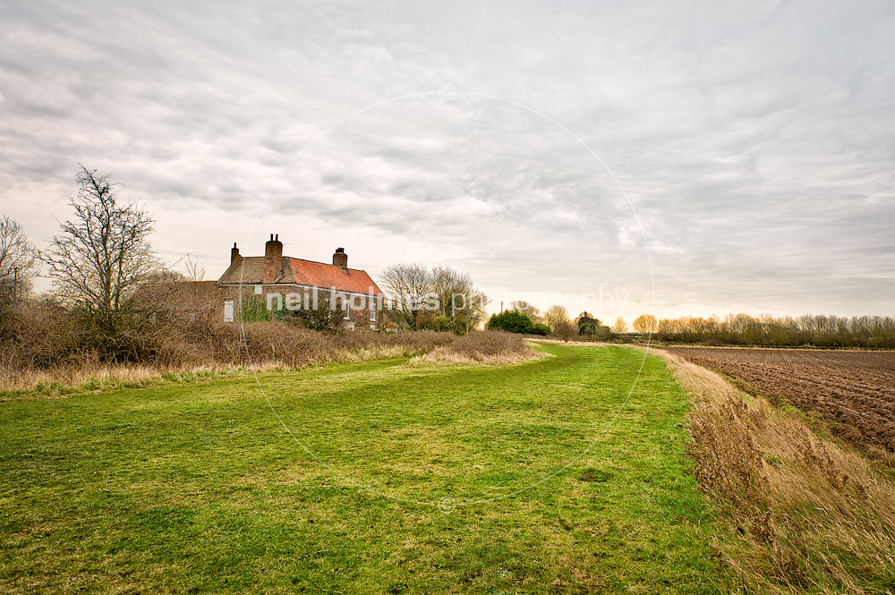 The Filled in Haven River which the Hedon Navigation Trust which is campaigning to restore to its former glories.  Hedon Haven. Friday 20 January 2012