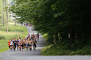 High School runners from across the northeast attend Aim High Running Camp in Brantingham, New York, in the Adirondack Park.