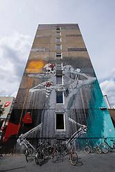 Street art  on high-rise building in Berlin Germany