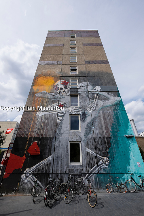 Street art  on high-rise building in Berlin Germany
