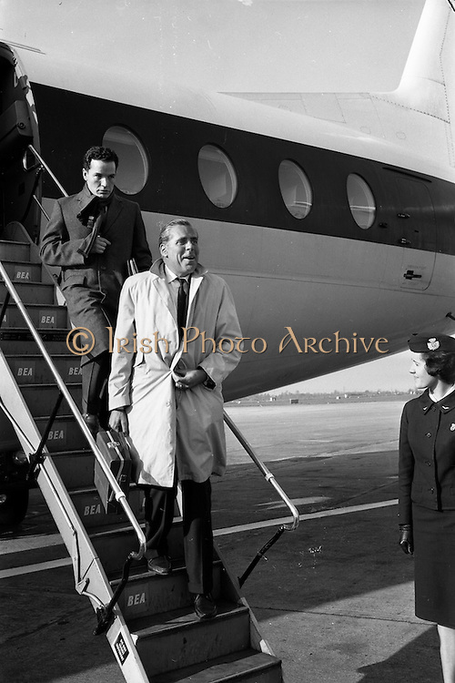 """22/03/1963<br /> 03/22/1963<br /> 22 March 1963<br /> Kevin McClory, Film Producer arrives at Dublin Airport. Kevin McClory is known for having adapted the James Bond novels for the screen and producing the film """"Thunderball""""."""