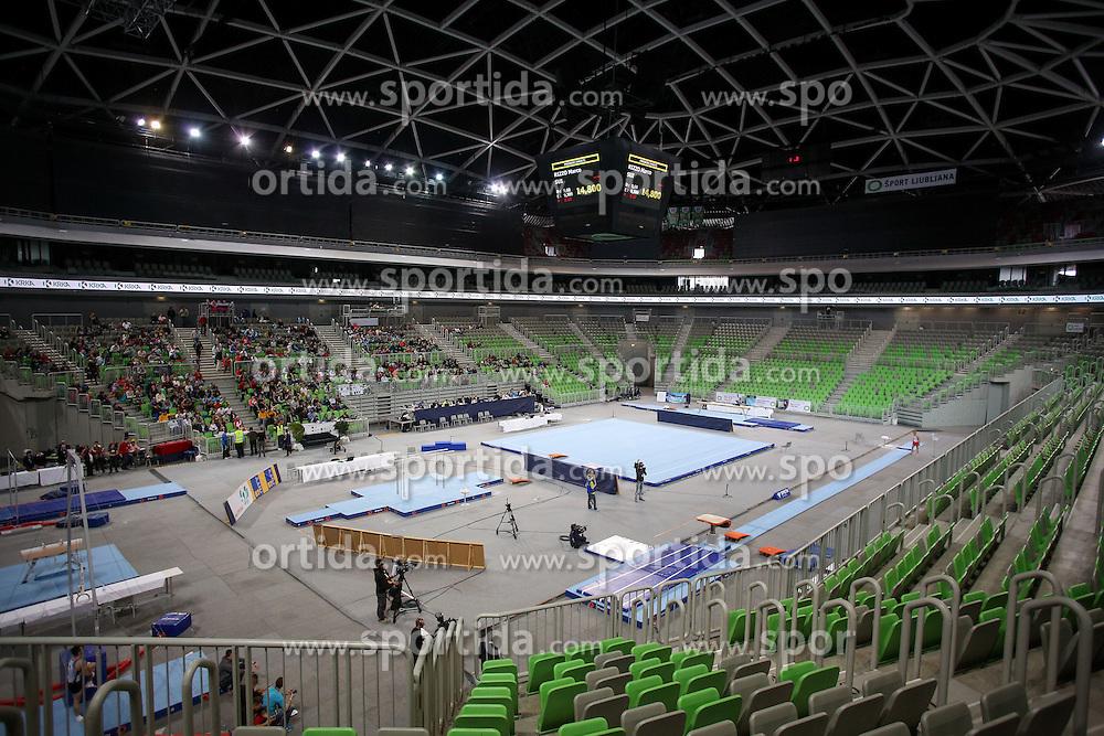 View on arena during Final of Artistic Gymnastics World Challenge Cup Ljubljana, on April 5, 2015 in Arena Stozice, Ljubljana, Slovenia. Photo by Morgan Kristan / Sportida