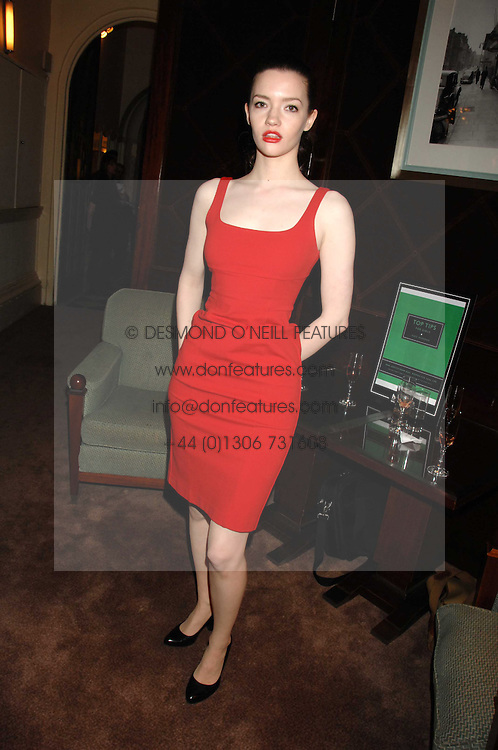 Actress TALULAH RILEY at a party to celebrate the publication of Top Tips For Girls by Kate Reardon held at Claridge's, Brook Street, London on 28th January 2008.<br />