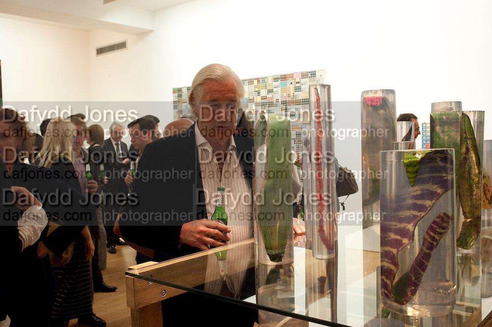 MARTIN SUMMERS- LUIZ ZERBINI  -EVERY JETSON HAS A FLINTSTONE INSIDE <br /> Max Wigram Gallery-BOND STREET,  London. 8 September 2011. <br />  <br />  , -DO NOT ARCHIVE-&copy; Copyright Photograph by Dafydd Jones. 248 Clapham Rd. London SW9 0PZ. Tel 0207 820 0771. www.dafjones.com.