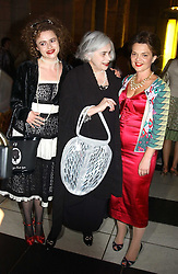 Left to right, actress HELENA BONHAM-CARTER, her mother MRS ELENA BONHAM-CARTER and LULU GUINNESS at a party to celebrate the publication of  'Put On Your Pearl Girls!' by Lulu Guinness held at the V&A museum, London on 5th May 2005.<br /><br />NON EXCLUSIVE - WORLD RIGHTS