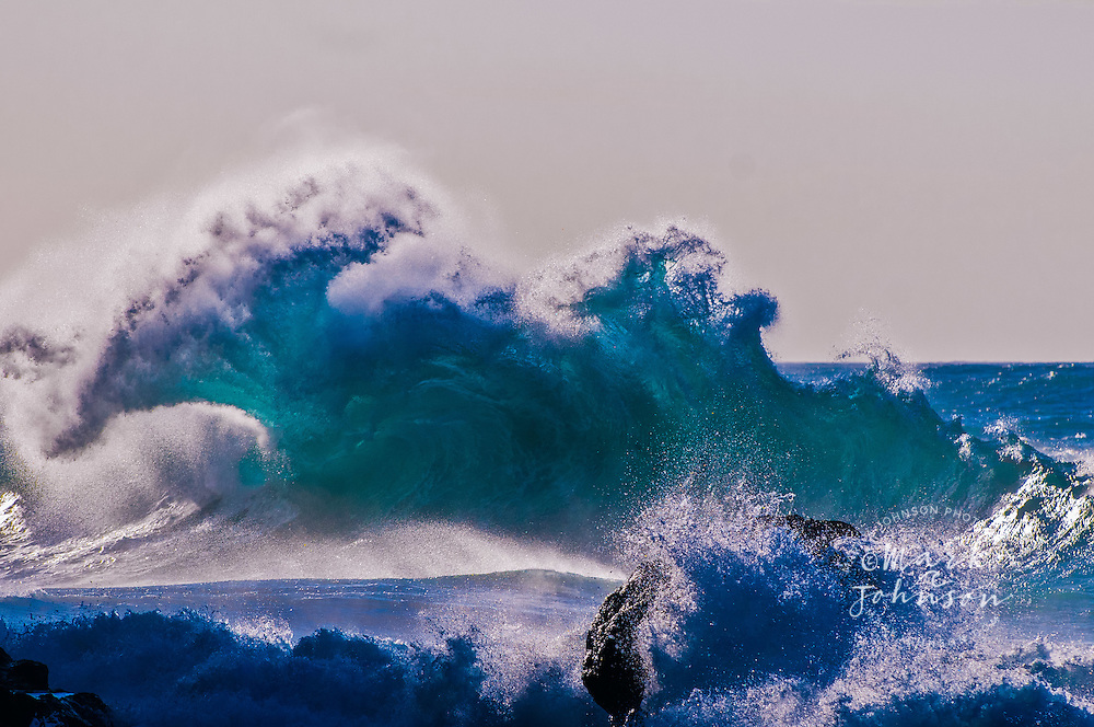 Kauai, Hawaii, USA --- Wave breaking off coast
