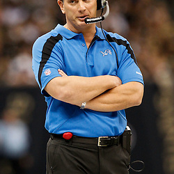 December 4, 2011; New Orleans, LA, USA; Detroit Lions head coach Jim Schwartz against the New Orleans Saints during a game at the Mercedes-Benz Superdome. The Saints defeated the Lions 31-17. Mandatory Credit: Derick E. Hingle-US PRESSWIRE