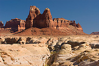 Slickrock and sandstone buttes, Glen Canyon National Recreation Area Utah