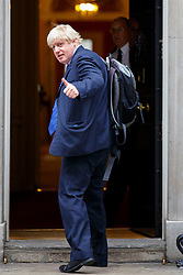 © Licensed to London News Pictures. 14/07/2015. London, UK. The Mayor of London, Boris Johnson attending to a cabinet meeting in Downing Street on Tuesday, July 14, 2015. Photo credit: Tolga Akmen/LNP