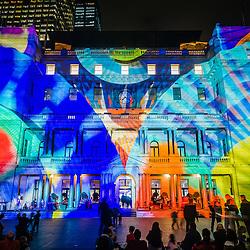 VIVID Festival light display
