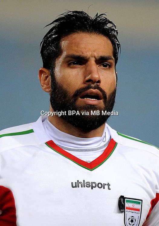 Asian Football Confederation - ASIAN CUP 2015 - Qualifing Match /<br /> Lebanon vs Iran 1-4  ( Sports City Stadium  - Beyrut , Lebanon ) <br /> Amir Hossein Sadeghi of Iran , during the match between Lebanon and Iran