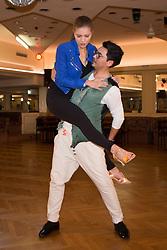 09.03.2016, Tanzschule Breuer, Koeln, GER, Lets Dance, Training, im Bild Victoria Swarovski (22, Saengerin) und Erich Klann (28, Profitaenzer) // during the German Let's Dance, Training at Tanzschule Breuer in Koeln, Germany on 2016/03/09. EXPA Pictures © 2016, PhotoCredit: EXPA/ Eibner-Pressefoto/ Deutzmann<br /> <br /> *****ATTENTION - OUT of GER*****