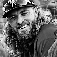 WASHINGTON, DC - OCTOBER 06: Washington Nationals left fielder Jayson Werth (28) takes batting practice in a Black and White image prior to the first game of the National League Division Series on October 6, 2017  at Nationals Park in Washington, D.C.  (Photo by Mark Goldman/Icon Sportswire)