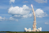CAPE CANAVERAL, FL - FEBRUARY 7:  Space Shuttle Atlantis lifts off from launch pad 39-A February 7, 2008, at the Kennedy Space Center in Cape Canaveral, Florida. Atlantis is scheduled for a 12-day mission to the International Space Station.