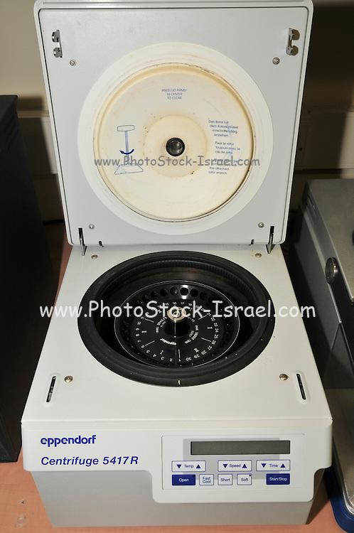 Close up of a Centrifuge Photographed at the University of Haifa
