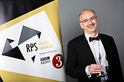 Photographed at the RPS Music Awards, London, Tuesday 9 May<br /> Photo credit required:  Simon Jay Price www.rpsmusicawards.com  #RPSMusicAwards