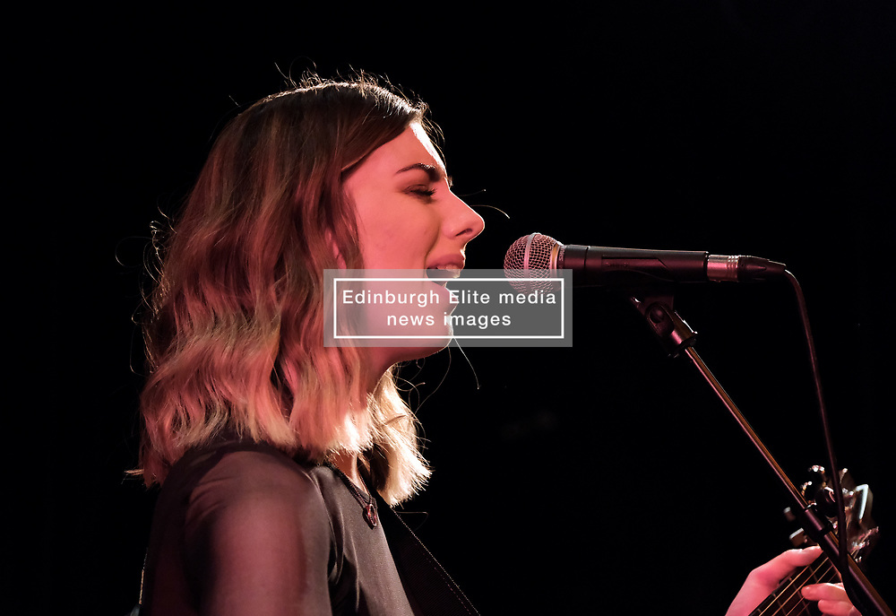 Actor, singer-songwriter and guitarist Laurence Fox performs at the Voodoo Rooms in Edinburgh on 19 February 2020<br /> <br /> Pictured:  Support act Alannah Moar<br /> <br /> Alex Todd | Edinburgh Elite media