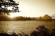 Sunset at Mrs Macquarie's Chair of Sydney Harbour, Bridge & Opera House, Sydney, Australia-8 March 2010.Paul Lovelace Photography