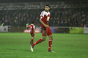 Whitehawk striker Danny Mills during the The FA Cup 2nd Round Replay match between Whitehawk FC and Dagenham and Redbridge at the Enclosed Ground, Whitehawk, United Kingdom on 16 December 2015. Photo by Phil Duncan.