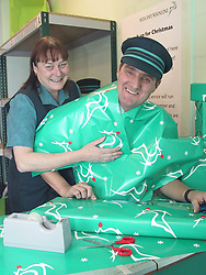 Midland Mainlines Charity Christmas present wrapping service aimed at raising funds for local childrens hospitals.