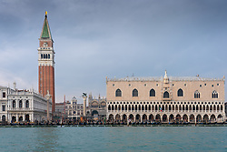 Views of St Mark's Campanile and the Doge's Palace in Venice. From a series of travel photos in Italy. Photo date: Monday, February 11, 2019. Photo credit should read: Richard Gray/EMPICS Entertainment