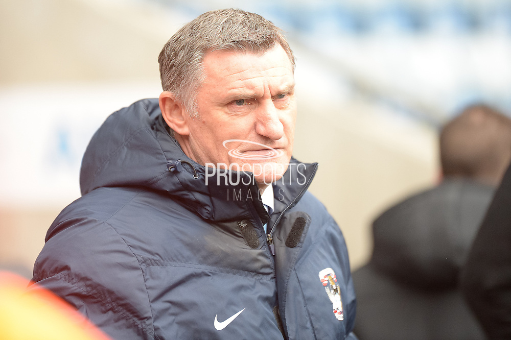 Coventry City Manager Tony Mowbray during the Sky Bet League 1 match between Coventry City and Bury at the Ricoh Arena, Coventry, England on 13 February 2016. Photo by Dennis Goodwin.