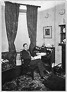 Alfred Edward Woodley Mason (1865-1948) at his desk, 1902.  AEW Mason, English novelist, is shown at the time 'The Four Feathers', his best known novel appeared.