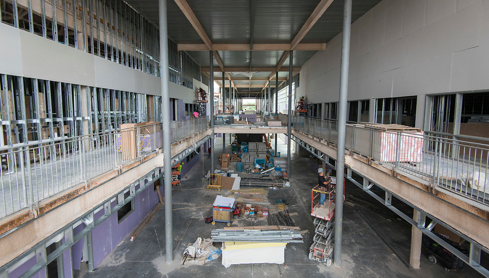 Construction at Sharpstown High School, May 18, 2017.