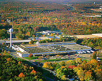 Aerial Photograph during autumn with fall foliage