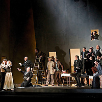 Picture shows :  picture left - Federico Lepre ( as Fenton )  and Lucy Crowe ( as Nannetta )in Scottish Opera's new production of  Giuseppe Verdi's Falstaff...Picture  ©  Drew Farrell Tel : 07721 -735041.Scottish Opera's new production of  Giuseppe Verdi's Falstaff..Dominic Hill, Artistic Director of the Traverse Theatre, directs this new production in the finest Verdi tradition. Conducted by Peter Robinson (except 21 June - Derek Clark ).( Sung in Italian with English subtitles).Based on a character in Shakespeare?s The Merry Wives of Windsor, Sir John Falstaff?s larger than life appetites and self-indulgences strike a chord of universal recognition. There?s something of him in everyone, allowing both laughter at and a degree of sympathy for an otherwise lecherous character...Sir John Falstaff  -  Peter Sidhom.Fenton    -     Federico Lepre.Ford    -       William Dazeley.Dr Caius  -     Peter Van Hulle.Bardolfo    -   Alasdair Elliott.Pistola   -     Giles Tomkins.Alice Ford  -   Maria Costanza Nocentini.Nannetta   -    Lucy Crowe.Mistress Page - Leah Marian Jones.Dame Quickly  -     Sally Burgess..Conductors.Peter Robinson (except 21 June).Derek Clark (21 June).Director.Dominic Hill.Designer.Tom Piper.Lighting.Ben Ormerod..Performances :.Theatre Royal. Glasgow, 13 ? 15 ? 17 ? 21 ? 24* May.His Majesty?s Theatre, Aberdeen 5 ? 7 Jun.Eden Court, Inverness 12 ? 14 Jun.Edinburgh Festival Theatre 18 ? 21* ? 26 ? 28 Jun..Note to Editors:  This image is free to be used editorially in the promotion of Scottish Opera. Without prejudice ALL other licences without prior consent will be deemed a breach of copyright under the 1988. Copyright Design and Patents Act  and will be subject to payment or legal action, where appropriate..Further further information please contact Kerryn Hurley Scottish Opera Press Manager t:   0141 242 0511.